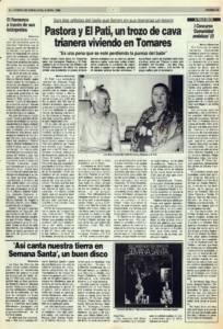 Pastora y El Pati, un trozo de cava trianera viviendo en Tomares   Opinión: Primer concurso Comunidad Andaluza (1)   6 abr 1990