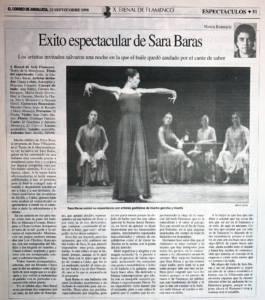 Éxito espectacular de Sara Baras | Sara Baras | X Bienal de Arte Flamenco | Teatro de la Maestranza | 22 sep 1998