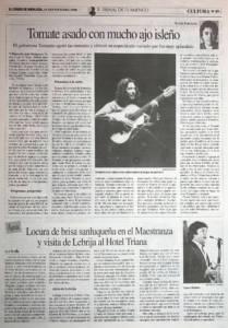 Tomate asado con mucho ajo isleño | Tomatito | X Bienal de Arte Flamenco | Teatro Lope de Vega | 19 sep 1998