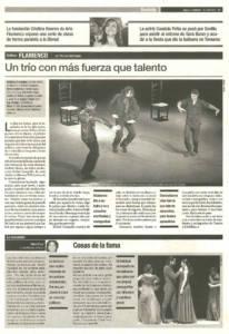 crítica - Un trío con más fuerza que talento | Andrés Marín, El Torombo y Rafael Campallo | Teatro Central | 14 sep 2000