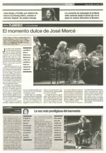El momento dulce de José Mercé | José Mercé | XI Bienal de Arte Flamenco | Teatro de la Maestranza | 18 sep 2000