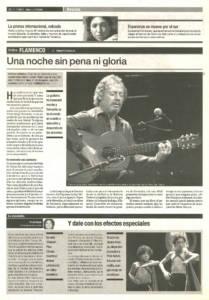 Una noche sin pena ni gloria | Víctor Monge Serranito | XI Bienal de Arte Flamenco | Teatro Lope de Vega | 12 sep 2000