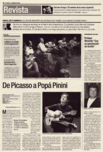 De Picasso a Popá Pinini | Juan el Lebrijano y Juan Manuel Cañizares | XII Bienal de Arte Flamenco | Teatro de la Maestranza | 1 oct 2002