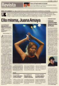 Ella misma, Juana Amaya | Juana Amaya | XII Bienal de Arte Flamenco | Teatro Lope de Vega | 30 sep 2002