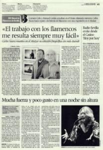 Mucha fuerza y poco gusto en una noche sin altura | Carmen Grilo, Manuel Liñán | XIV Bienal de Arte Flamenco | Teatro Alameda | 21 sep 2006