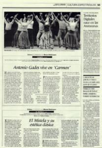 Antonio Gades vive en 'Carmen' | Compañía Antonio Gades – Stella Arauzo, Adrián Galia, Antonio Hidalgo, Joaquín Mulero | Teatro de la Maestranza | 4 jun 2008