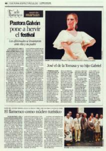 Pastora Galván pone a hervir el festival | Pastora Galván, José de la Tomasa, Gabriel de la Tomasa | Festival Mont-de-Marsan | 11 jul 2009