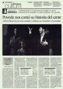 Poveda nos contó su historia del cante | 'Historias de viva voz' – Miguel Poveda | XVI Bienal de Flamenco | Real Maestranza de Caballería | 17 sep 2010