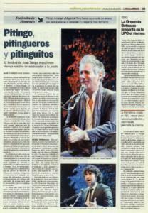 Pitingo, pitingueros y pitinguitos | Pitingo, Arcángel, Miguel de Tena, Cristina Soler | Festival de Juan Talega| 12 jun 2011