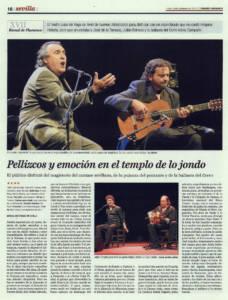 Pellizcos y emoción en el templo de lo jondo | José de la Tomasa, Julián Estrada, Adela Campallo | XVII Bienal de Flamenco | Teatro Lope de Vega | 10 sep 2012