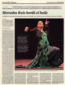Mercedes Ruiz bordó el baile | 'Perspectivas' – Mercedes Ruiz, David Lagos, Melchora Ortega, David Carpio | XVII Bienal de Flamenco | Teatro Lope de Vega | 16 sep 2012