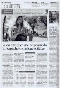 Entrevista Esperanza Fernández: «Con este disco me he permitido un capricho con el que soñaba» | 30 oct 2007