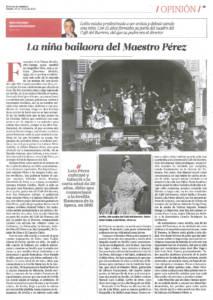 Lola Pérez - La niña bailaora del Maestro Pérez | El Correo de Andalucía | 19 mar 2016