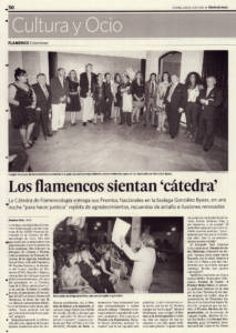 Premios Cátedra Flamencología Jerez - Diario de Jerez - 2 julio 2010