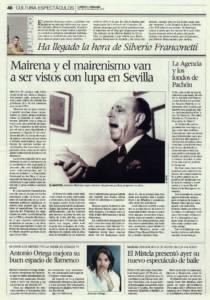 Antonio Mairena y el mairenismo van a ser vistos con lupa en Sevilla | La Agencia del Flamenco y los fondos de Ricardo Pachón | Opinión: Ha llegado la hora de Silverio Franconetti | 16 oct 2009