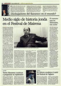 Medio siglo de historia jonda en el Festival de Mairena – El concurso para los aficionados, esta noche | Opinión: ¿Embajadores del flamenco en el mundo? | 2 sep 2011