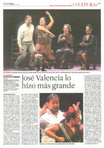José Valencia lo hizo más grande | José Valencia | XIX Bienal de Arte Flamenco | Teatro Lope de Vega | 19 sep 2016