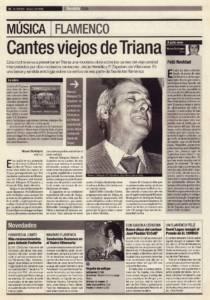 Cantes viejos de Triana – Jesús Heredia, El Zapatero de Villanueva | Opinión: Feliz Navidad | 15 dic 2000