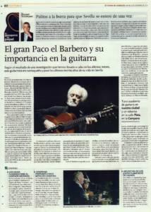 El gran Paco el Barbero y su importancia en la guitarra | Opinión: Palitos a la burra para que Sevilla se entere de una vez | 21 nov 2014