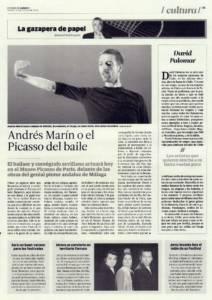 Andrés Marín o el Picasso del baile | Opinión: David Palomar | 20 feb 2015