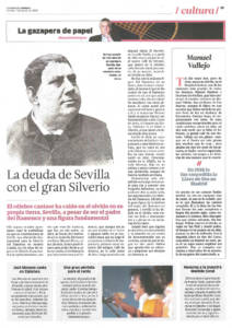 La deuda de Sevilla con el gran Silverio Franconetti | Una gran pérdida para el cante: Canela de San Roque | Opinión: Manuel Vallejo | 7 ago 2015