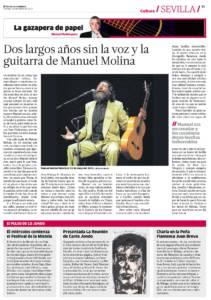 Dos largos años sin la voz y la guitarra de Manuel Molina | 19 may 2017