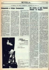 Un ciclón al que llaman Rafael el Negro | José Mercé, José de la Tomasa, José Menese, Naranjito de Triana, Manuel Mairena, Matilde Coral, Enrique de Melchor, Fosforito | IV Bienal de Flamenco | Reales Alcázares | 25 sep 1986