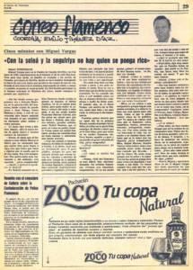 Miguel Vargas: «Con la soleá y la seguiriya no hay quien se ponga rico» | 19 feb 1985