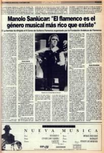 Manolo Sanlúcar: «El flamenco es el género musical más rico que existe»   15 oct 1989
