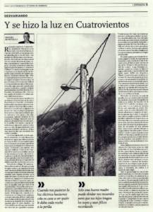 Y se hizo la luz en Cuatrovientos | El Correo de Andalucía | 13 sep 2014