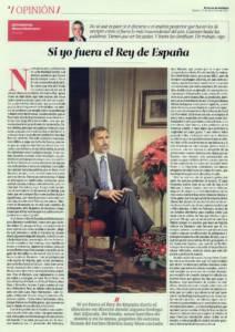 Si yo fuera el Rey de España | El Correo de Andalucía | 27 dic 2014