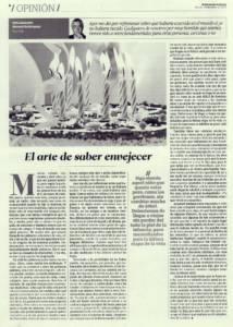 El arte de saber envejecer | El Correo de Andalucía | 10 ene 2015