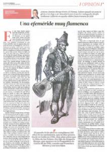 Una efeméride muy flamenca – Antonio Monge Rivero El Planeta | El Correo de Andalucía | 14 nov 2015