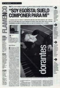 David Peña Dorantes: «Soy egoísta, suelo componer para mí» | 21 feb 2002