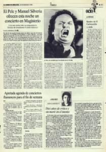 El Pele y Manuel Silveria ofrecen un concierto en Magisterio | Bautizo de El Carbonerillo | Opinión: Diez años de crítico y sin morir en el intento | 18 feb 1994