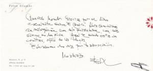 Carta Felix Grande 2010