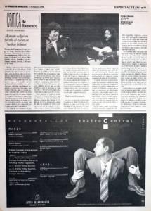 Crítica Enrique Morente – Teatro Lope de Vega – 1996