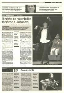 El mérito de hacer bailar flamenco a un insecto | Israel Galván | XI Bienal de Arte Flamenco | Teatro Lope de Vega | 22 sep 2000