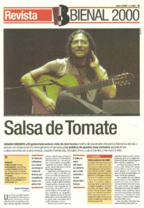 Salsa de Tomate | Tomatito | XI Bienal de Sevilla | Teatro de la Maestranza | 21 sep 2000