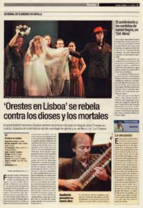 'Orestes en Lisboa' se rebela contra los dioses y los mortales | Francisco Suárez | XII Bienal de Arte Flamenco | Teatro Lope de Vega | 13 sep 2002