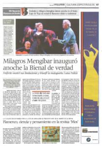 Milagros Mengíbar inauguró anoche la Bienal de verdad | Milagros Mengíbar, Fosforito, Luisa Palacio | XIV Bienal de Arte Flamenco | Teatro Lope de Vega | 27 sep 2006