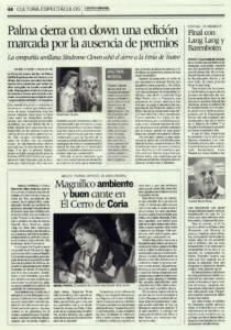 Magnífico ambiente y buen cante en El Cerro de Coria | Miguel Poveda, Manuel Aguilera, Curro Malena, Alfonso de Miguel | Festival Flamenco de Coria del Río | 8 jul 2007