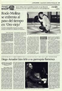 Diego Amador hizo feliz a su parroquia flamenca | Diego Amador | XVBienal de Flamenco | Teatro Central | 9 oct 2008