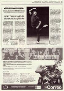 Israel Galván dejó sin aliento a sus seguidores | 'Así canta nuestra tierra' – Pansequito del Puerto, Israel Galván, Arcángel | Jueves Flamencos de Cajasol | Sala Joaquín Turina | 27 nov 2009