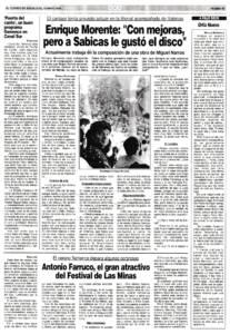 Entrevista Enrique Morente: «Con mejoras, pero a Sabicas le gustó el disco» | 18 may 1990