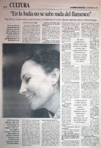 Pilar Távora: «En la India no se sabe nada del flamenco» | 25 feb 1995