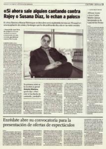 Entrevista a Manuel Bohórquez - El Esquimo - Alejandro Luque - El Correo de Andalucía