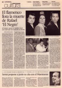 El flamenco llora la muerte de Rafael el Negro – El esposo de Matilde Coral será enterrado este mediodía en Sevilla | 18 mar 2010