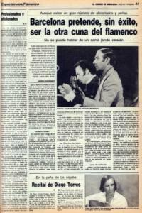 Barcelona pretende, sin éxito, ser la otra cuna del flamenco | Opinión: Profesionales y aficionados | 31 mar 1987
