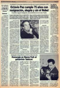 Homenaje en Nueva York al guitarrista Sabicas – Participan Enrique Morente, Jerónimo y Paco de Lucía | 7 abr 1989